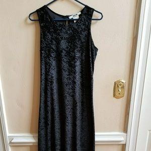 {Vintage} black velvet dress